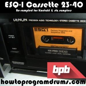 ESQ-1 Cassette 23-40